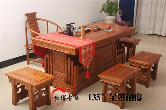 茶桌椅组合实木仿古中式家具价格