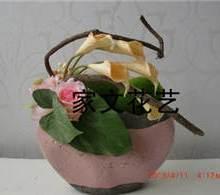供应碗形陶配火鹤叶玫瑰批发