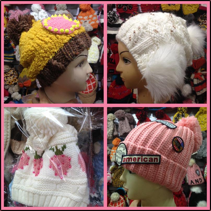 2015新款地摊跑江湖时尚毛线帽成人女款针织帽子款式多秋冬季
