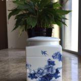供应用于装药材|装膏方|装腌肉的订做大号青花陶瓷罐子