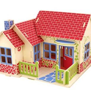 东莞木制3D立体拼图玩具厂家图片
