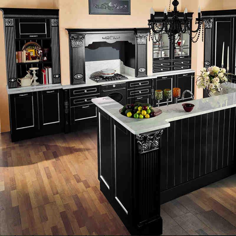 加利安中岛形厨房厨柜整体橱柜定做批发