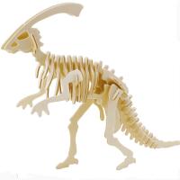 供应东莞木制恐龙模型玩具厂家定制,3D立体拼图,木制儿童玩具厂家热销