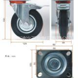 5寸工业橡胶刹车轮  5寸工业橡胶刹车轮厂家直销