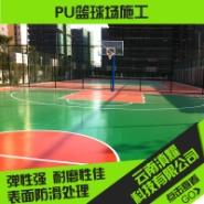 PU篮球场施工图片