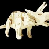 供应木制恐龙电动玩具 厂家批发定制儿童益智智力3D立体拼装模型玩