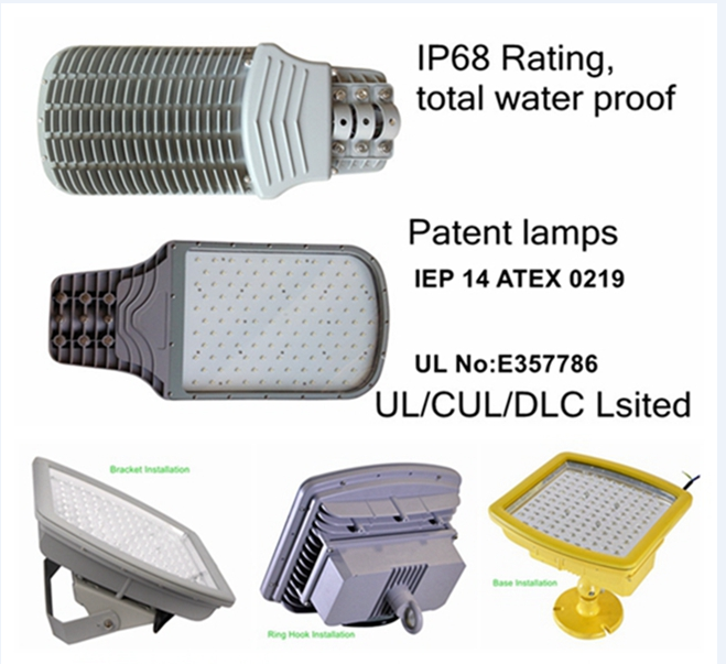 LED防爆灯CES-J60W中国防爆认证CNEX、欧洲的CE,ROHS,ATEX等认证。澳洲的SAA,C-Tick认证。