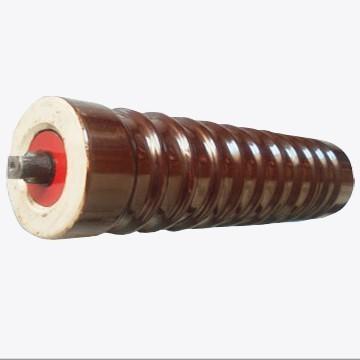 陶瓷托辊厂家供应 槽型托辊组 108×465缓冲托辊 输送机配件