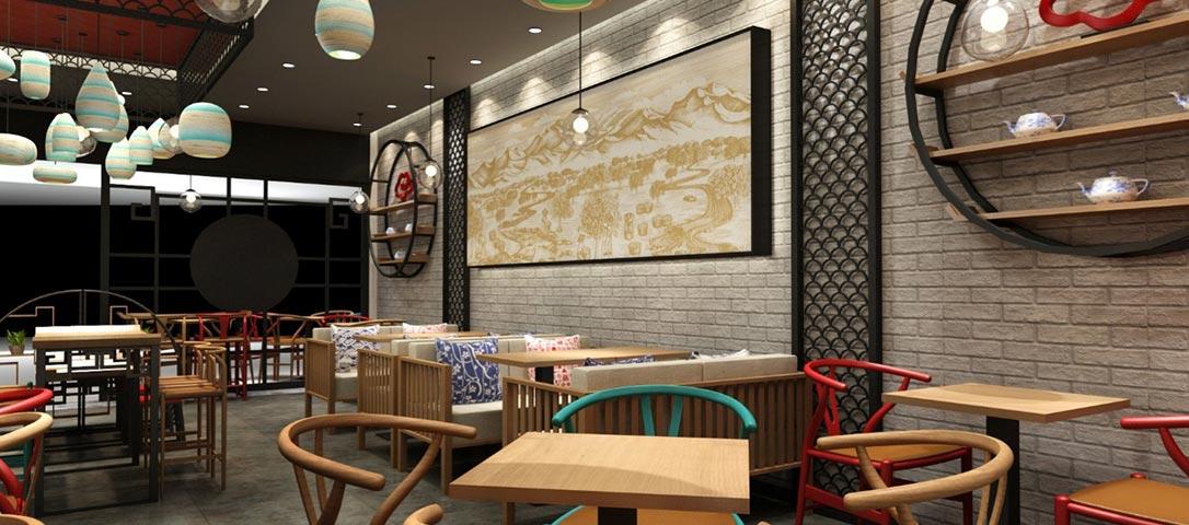 皇茶店铺室内设计