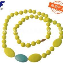 供应用于促销礼品 宝妈饰品 磨牙玩具的热销欧美流行硅胶咀嚼项链/糖果色图片