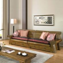 供应榕华家居韩式榆木沙发组合客厅家具单人双人四人沙发批发