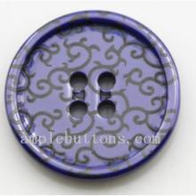 供应用于服装辅料的新款高档陶瓷圆形四眼西装夹克扣子图片