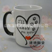 创意彩色陶瓷杯带盖戴黑色博士帽直筒陶瓷咖啡杯来样加工图片