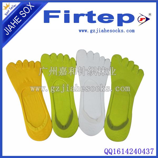广州男女纯棉隐形短筒五指袜销售