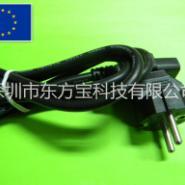 欧规欧式VDE认证三插电源线图片
