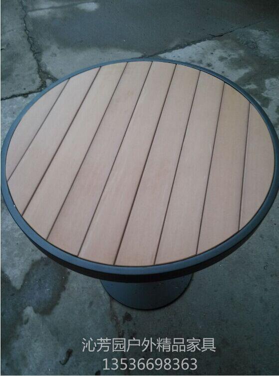 供应厂家直销户外家具塑木餐桌椅组合园林阳台茶几 咖啡厅休闲桌椅 铝合金家具