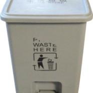 灰色脚踏15L环保垃圾收集污物桶图片