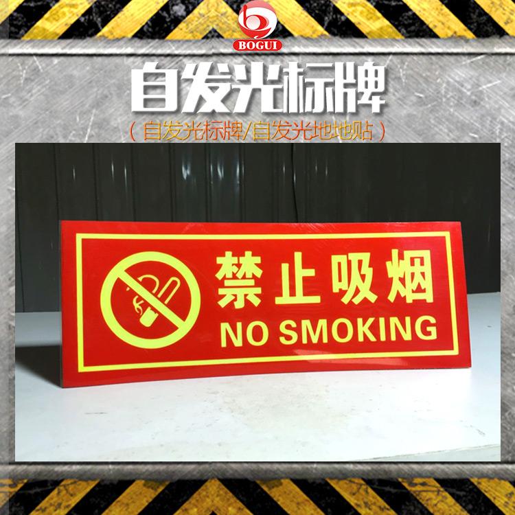 供应广西自发光标牌 自发光地贴 消防疏散方向标牌 警示出口自发光标牌厂家