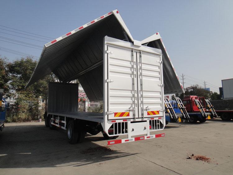 供应用于汽车配件运输的翼开启厢式运输车-湖北合力专用车