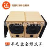 3寸USB声卡解码音箱 音箱空木箱 音响组装 音箱加工 木制工艺品加工 实木桌面音响 全频喇叭 进口日本喇叭 木箱厂