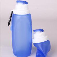 供应创意便携户外运动水壶 硅胶水瓶 硅胶可折叠水壶 折叠水瓶 礼品水杯 可折叠硅胶水袋 便捷旅行水杯 硅胶旅行用品