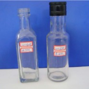 100ml方形圆形橄榄油玻璃瓶图片