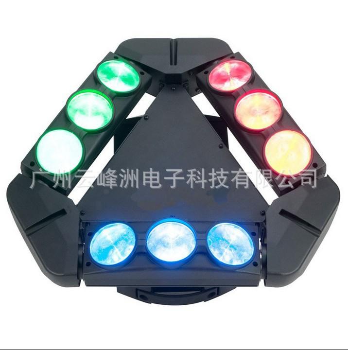 供应9*10W无极旋转LED光束灯、RGBW蜘蛛灯
