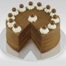 供应8英寸提拉米苏蛋糕可送到迪拜【阿布扎比】生日蛋糕国际配送到外国地址【三月花城国际鲜花蛋糕】最快今天可以送达批发