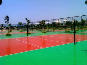 供应运动场地塑胶跑道施工 硅PU网球|耐冲压性强,抗衰老性好,维护简单