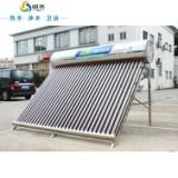 供应万晴太阳能热水器、家用空气源热泵工程联箱集热器