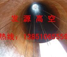 四平锅炉烟囱爬梯护网更换