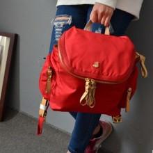 批发韩版外贸原单书包纯色熊家时尚百搭尼龙女士双肩包学生包背包批发