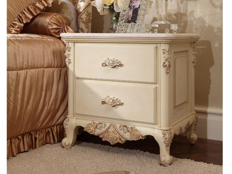 床头柜欧式家具储物柜图片