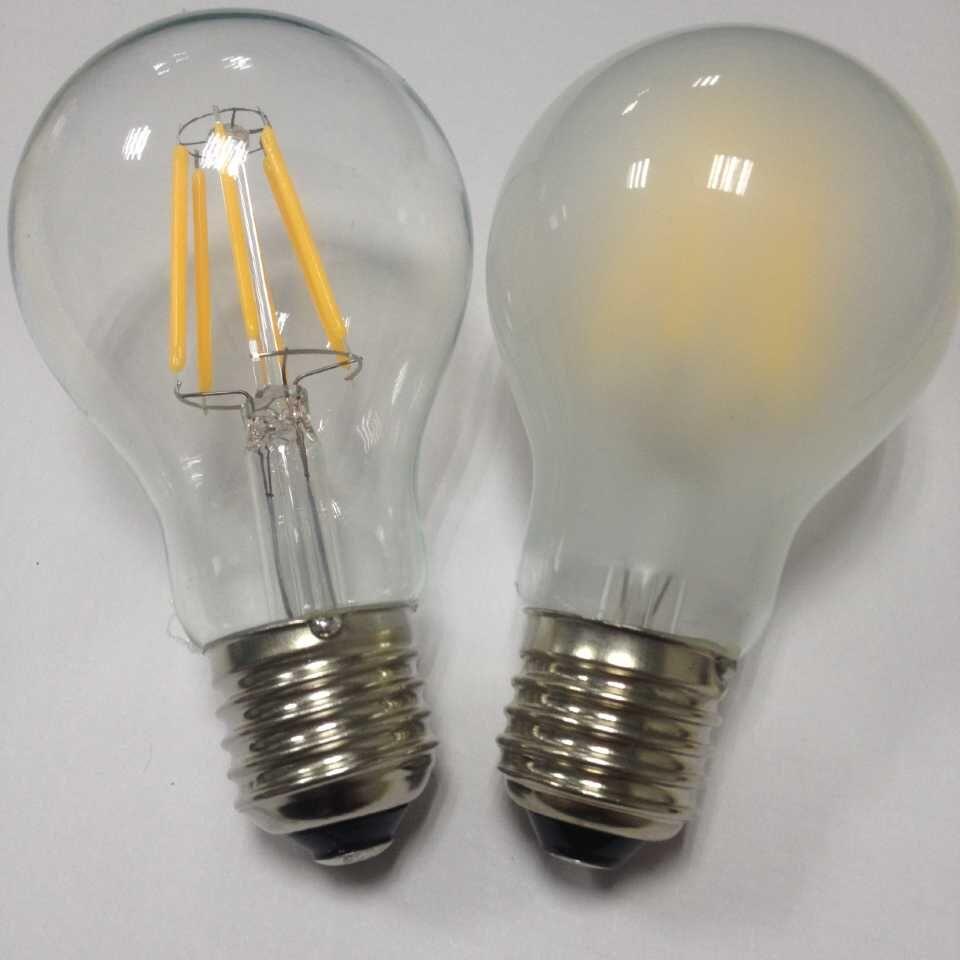 供应可调光a19 led灯丝灯ul 8w 110v e26螺口清光磨砂琥珀色反射电泡