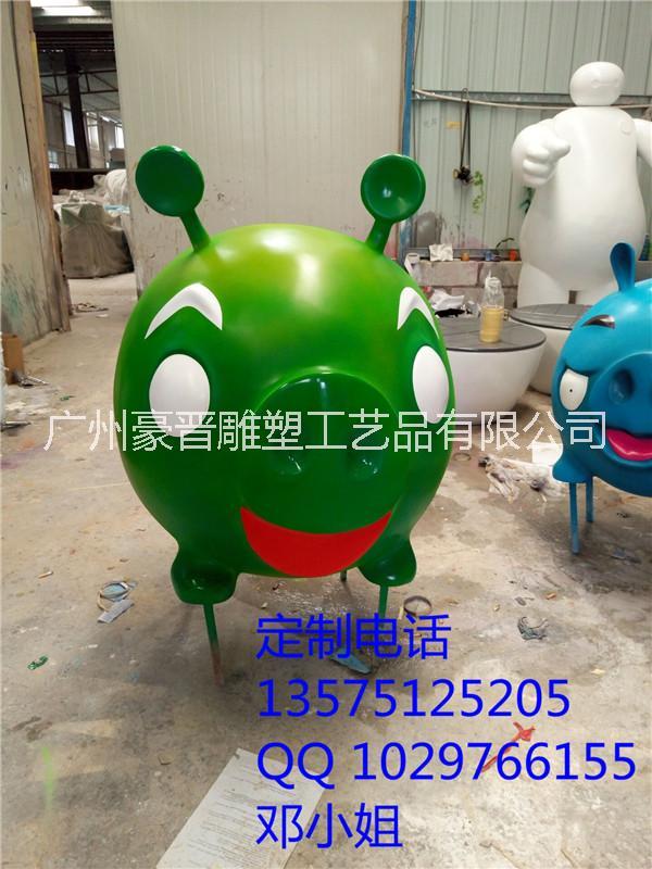 供应彩绘猪猪侠树脂雕塑卡通小猪玻璃钢摆件恩施玻璃钢生产厂家