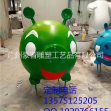供应彩绘猪猪侠树脂雕塑卡通小猪玻璃钢摆件恩施玻璃钢生产厂家批发