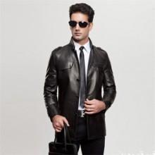 新款真皮男装外套服装加工春季新款服装男式真皮外套批发一件代发批发