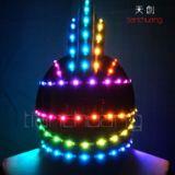 供應led演出發光頭飾發光帽子led 全彩LED發光馬甲帽子 發光舞臺表演發光服裝頭飾發光帽子發光頭盔