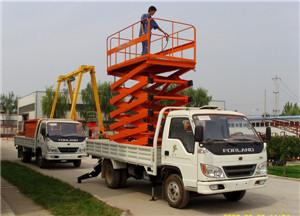 供应用于交通的汽车升降机车载液压升降平台