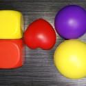 聚氨酯PU玩具球骰子爱心球图片