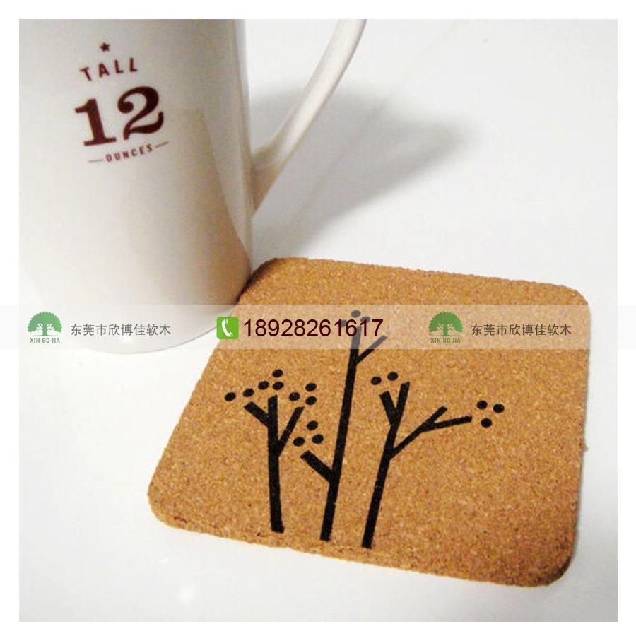 供应【环保创意】软木杯垫 软木餐垫 厂家批发定制