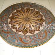 手工真丝圆桌地毯、玄关地毯、钢琴图片