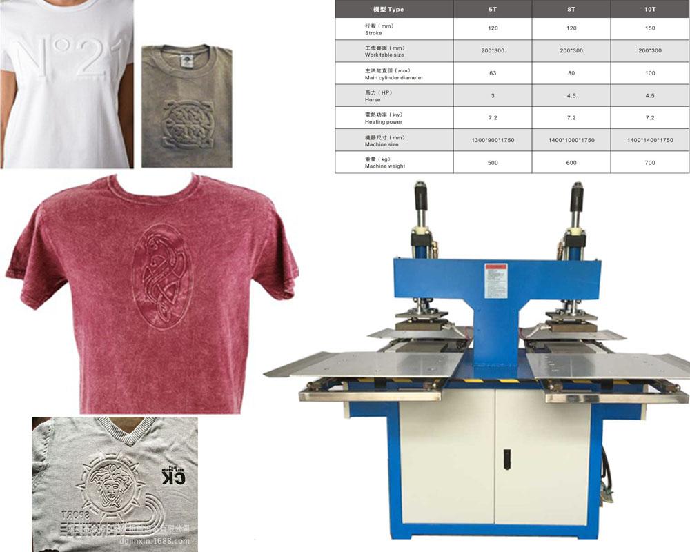 供应凹凸感服饰植胶机,服装商标压花机