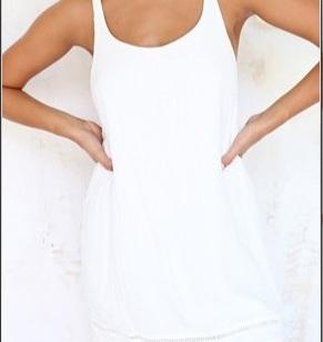 性感蕾丝背心 后背镂空纯色吊带衫图片