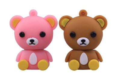供应可爱时尚的小棕熊卡通u盘