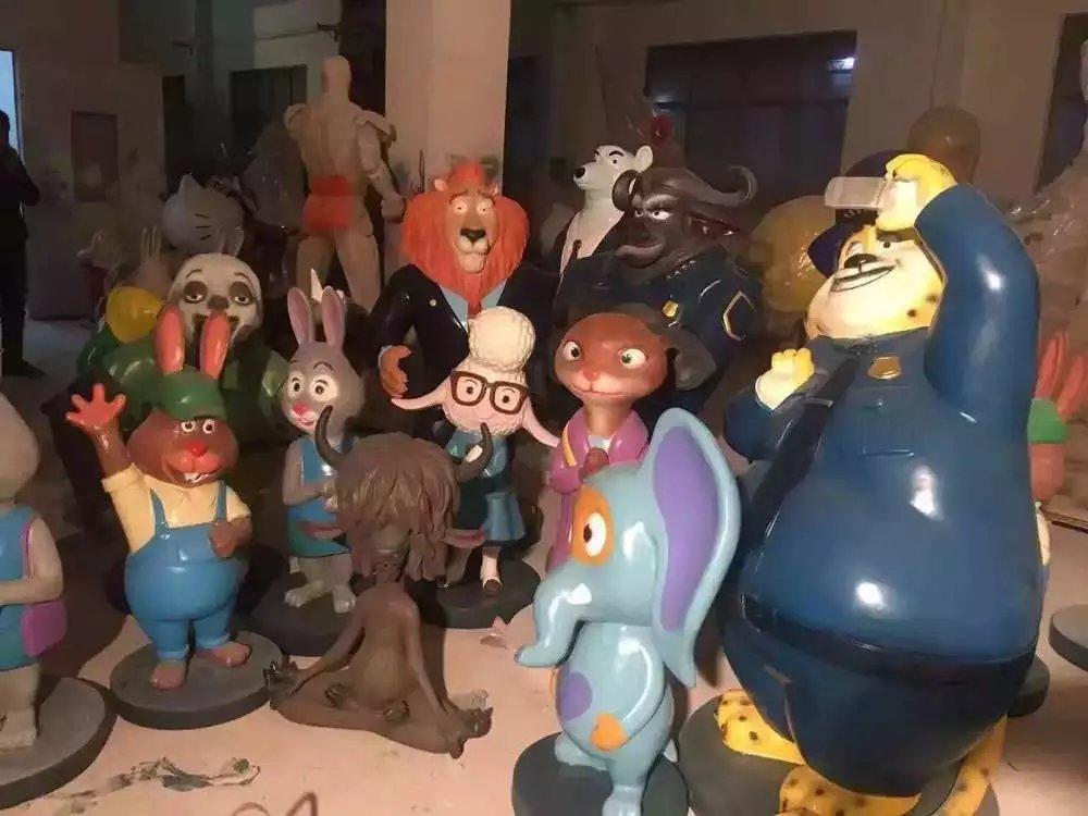 疯狂动物城模型出售卡通人物雕塑厂价格