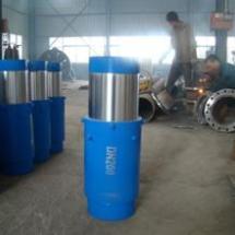 供应用于钢制的套筒补偿器DN1400PN2.5 耐磨高温补偿器 蒸汽管道用衬四氟补偿器现货厂家