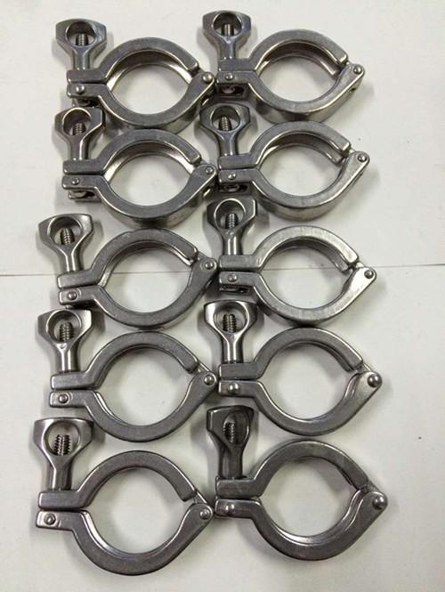 供应用于管道配件的不绣钢304 201卡箍精铸卡箍 快装卡箍