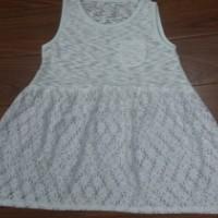针织蕾丝女童连衣裙