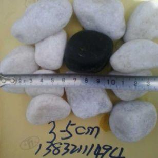 河北邯郸3-5厘米白色鹅卵石厂家图片